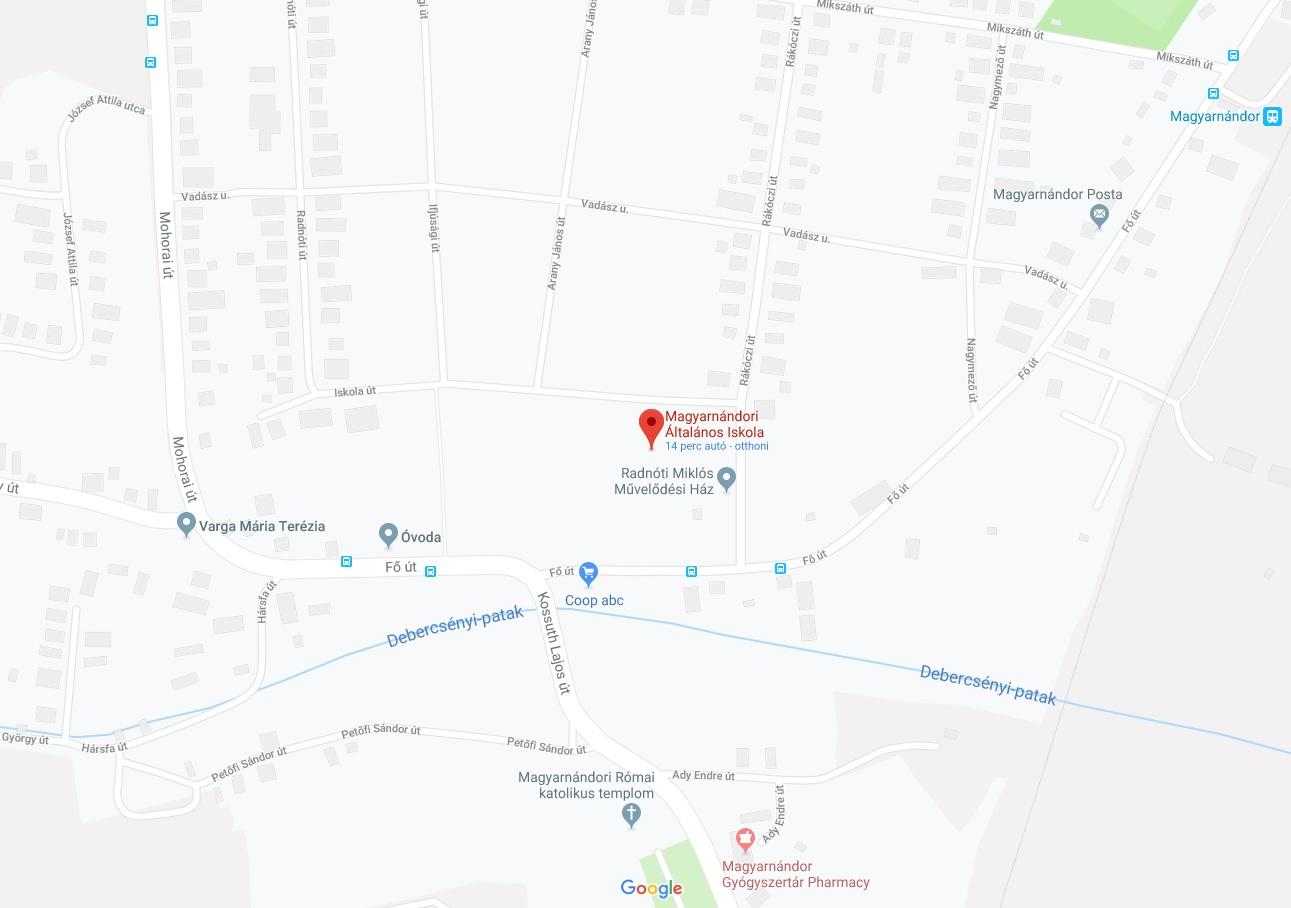 Iskolánk a Google térképen